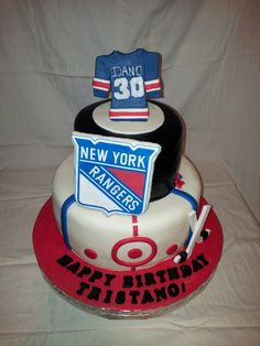 New York Rangers Cake