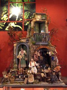 casa-osteria-Neapolitan-creche-crib-mager-Presepe-Napoletano-balcone