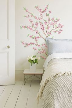 The Asian Style Peach Tree - Peel N Stick will add to your dorm room decor. These dorm room items will make your dorm room pretty. College wall decor is essential for college dorms if you want your dorm room to be fun. Add cool dorm stuff and dorm decor. Home Bedroom, Bedroom Wall, Bedroom Decor, Wall Decor, Wall Art, Wall Mural, Floral Bedroom, Bedroom Sets, Deco Pastel