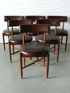 Ib Kofod-Larsen; Teak Dining Chairs for G-Plan, 1960s.