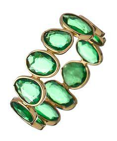 Tresor Gold and Tsavorite Slice Mosaico Ring