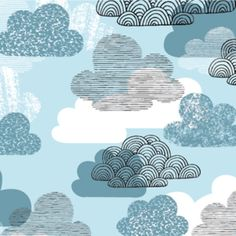 Eloise Renouf Passing Clouds in Blue