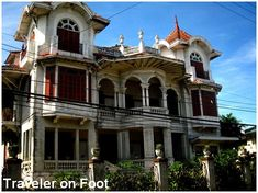 The recollection was like being part of a sepia photograph set in a steep but wide staircase of an old yet well-kept house. We stepped on a gracious caida surrounded by capiz windows to b… Philippine Architecture, Philippine Houses, Old Money, Victorian Homes, Filipino, Old Houses, Exterior, Mansions, House Styles
