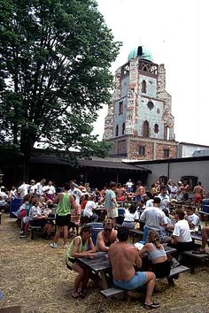 Gathering at Lonz Winery, Middle Bass Island, Circa 1995. Via putinbayphotos.com