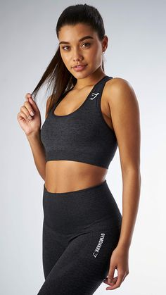 The Seamless sports bra in black is literally a seamless knit to give you a closer, more comfortable fit. Keeping you cooler and comfier, for longer during your workout.