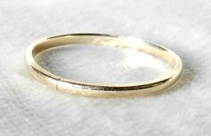 Vintage Classic Wedding Band in 14K Yellow by LoveAlwaysGalicia, $124.00