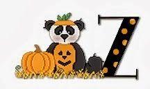 Alfabeto de ositos panda disfrazados para Halloween. | Oh my Alfabetos!