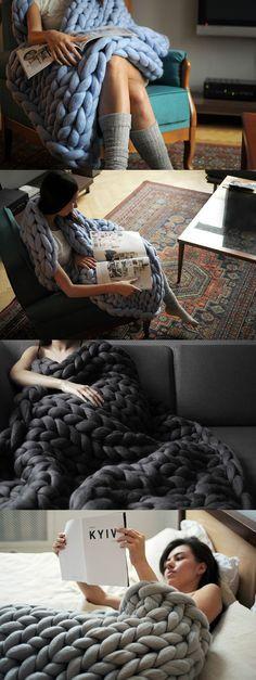 DIY Arm knitting merino wool.