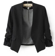 2016女性ブレザー女性ジャケット袖ポケット なし ボタン女性スリム ショート スーツ ジャケット ブレザー ブレザー女性キャンディー カラー b180