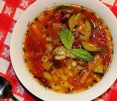 Minestrone soup- use quinoa pasta.