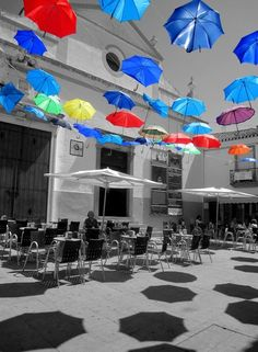 What will happen if umbrellas start to fly? Taken by Hawra Esmaeil. Location: Evora - Portugal