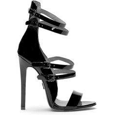Emily B. for ZigiNY BENI Sandal in Black (PRE-ORDER) FLYJANE ($188) ❤ liked on Polyvore featuring shoes, sandals, heels, black sandals, black shoes, heeled sandals, kohl shoes and black heeled sandals