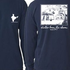 Navy Blue Comfort Colors House Shirt-Designed by a Child in Need and Posted Here so YOU Can Make a Difference! Repin This-Fall Fashion For Good! Share God's Love in India!