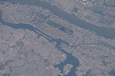 Central Park via ISS