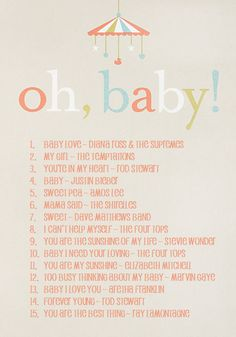 create a playlist of Moms or babies favorite songs! #vbpinparty