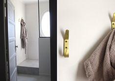 Du béton ciré pour la rénovation de notre salle de bain ! - Barnabé aime le café Bathroom, Master Bathroom Vanity, Washroom, Full Bath, Bath, Bathrooms