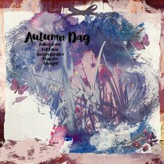 Autumn Day I mixed media digital scrapbook layout using Autumn Day Collab