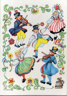 AK - Künstlerkarte - AINA STENBERG - Gelaufen  Schweden
