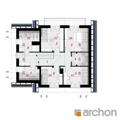 Dom w ambrozjach Mica, Floor Plans, House, Denim Quilts, House With Granny Flat, Home, Homes, Floor Plan Drawing, Houses
