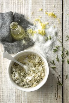 grapefruit  rosemary salt scrub