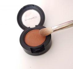 Mac Eyeshadow Texture-A gorgeous orangey-brown.