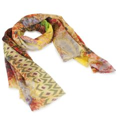 Hirshleifers - Maison Passage - Printed Pattern Scarf (Orange/Yellow), $415.00 (http://www.hirshleifers.com/etc/accessories/scarves/maison-passage-printed-pattern-scarf-orange-yellow/)