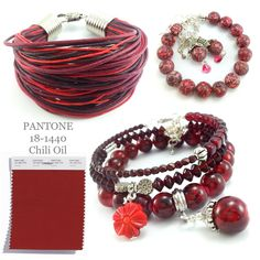 Biżuteria Pantone Chili Oil