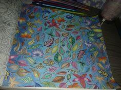 Colorido com lapis aquarela - meu 1° desenho