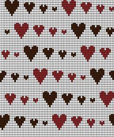 Knitting Chart: Runaway Hearts by ~redhedinsanity on deviantART