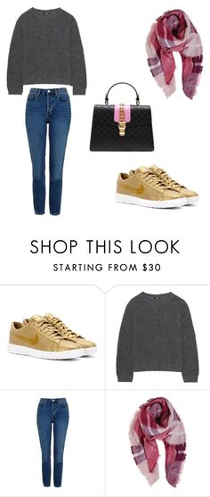 """Love this style"" by phamthuquynh on Polyvore featuring NIKE, Uniqlo, Topshop, Humble Chic and Gucci"