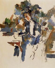 Paul Cézanne (Cezanne) - Retrato de una Señora