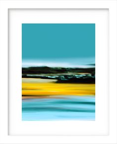 ID81 Colorful Large or Small Abstract Seascape/Landscape Bright Modern Art. Trendy Home or Office Decor. Instant Digital Download Print by ElcoStudio on Etsy