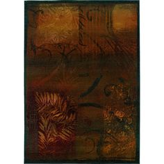 Oriental Weavers Transitional Brown Gold Polypropylene Abstract Machine-Woven Area Rug