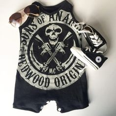 Hey, I found this really awesome Etsy listing at https://www.etsy.com/listing/230077908/sons-of-anarchy-upcycled-baby-toddler