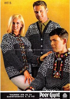 Valdres i Peer Gynt eller Smart, gratisoppskrift på sandnesgarn. Nordic Sweater, Ski Sweater, Norwegian Knitting, Fair Isle Knitting, Vintage Knitting, Knit Jacket, Knitting Patterns, Knitting Ideas, Christmas Sweaters