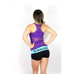 Train Like a Beast Purple Burnout Tank