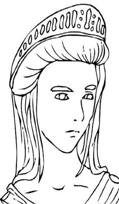 Greek Gods Kids Coloring Pages And Free Goddess Goddesses Colouring Pictures