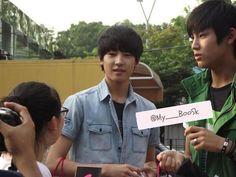 Wonwoo and Mingyu of Seventeen (Pledis boy group)