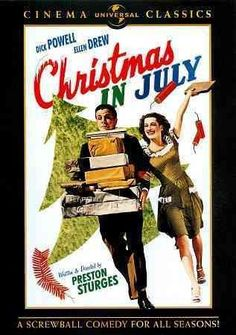 In Preston Sturges' second film, CHRISTMAS IN JULY, a practical joke propels a hard-working New York couple into a financial and ideological fiasco that challenges the concepts of talent, destiny, and