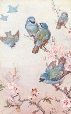 leuk blauwe vogels [Pretty blue birds] by corinne