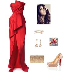 Untitled #590 by azra-99 on Polyvore featuring moda, J. Mendel, Christian Louboutin, Dsquared2, Kate Spade and Fernando Jorge