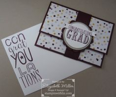 Stampin Up Gift Card from the B.Y.O.P. Photopolymer Stamp Set graduation
