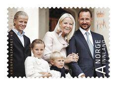 MYROYALS  FASHİON: New stamps for Crown Prince Haakon and Crown Princess Mette Marit's 40th Birthday-Marius Høiby, Princess Ingrid Alexandra, Prince Sverre Magnus, Crown Princess Mette-Marit, Crown Prince Haakon Magnus