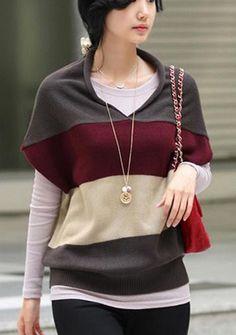 2013 nowość luźny sweter bez rękawów