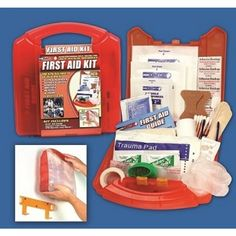 First Aid Kit with Detachable Wall Mount (125 Piece) $15.99