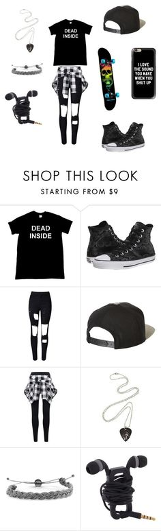 Untitled #33 by darksoul7 on Polyvore featuring Converse, WithChic, Brixton, Domo Beads and Casetify