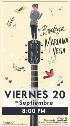 Mariana Vega | Presentación oficial de Mi burbuja | Viernes 20 de septiembre | Centro Cultural BOD Corp Banca, Caracas | Booking/Producción Pop Société