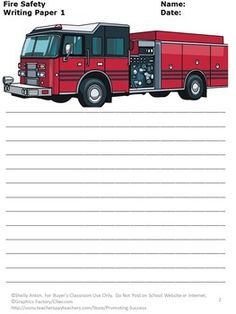 FREE!!! Fire Safety: Here are 3 free fire safety writing pages for your classroom. There are so many uses for thematic writing paper. I know your students will be motivated!