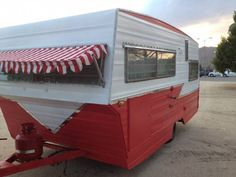 1967 Vintage Travel Trailer, red-n-white, Aristocrat, CA Sweet Inside and out $7500