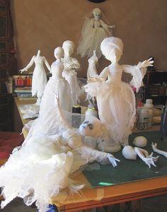 Halloween Clay, Halloween Miniatures, Halloween Quilts, Halloween Themes, Vintage Halloween, Halloween Crafts, Halloween Decorations, Halloween Stuff, Vintage Witch